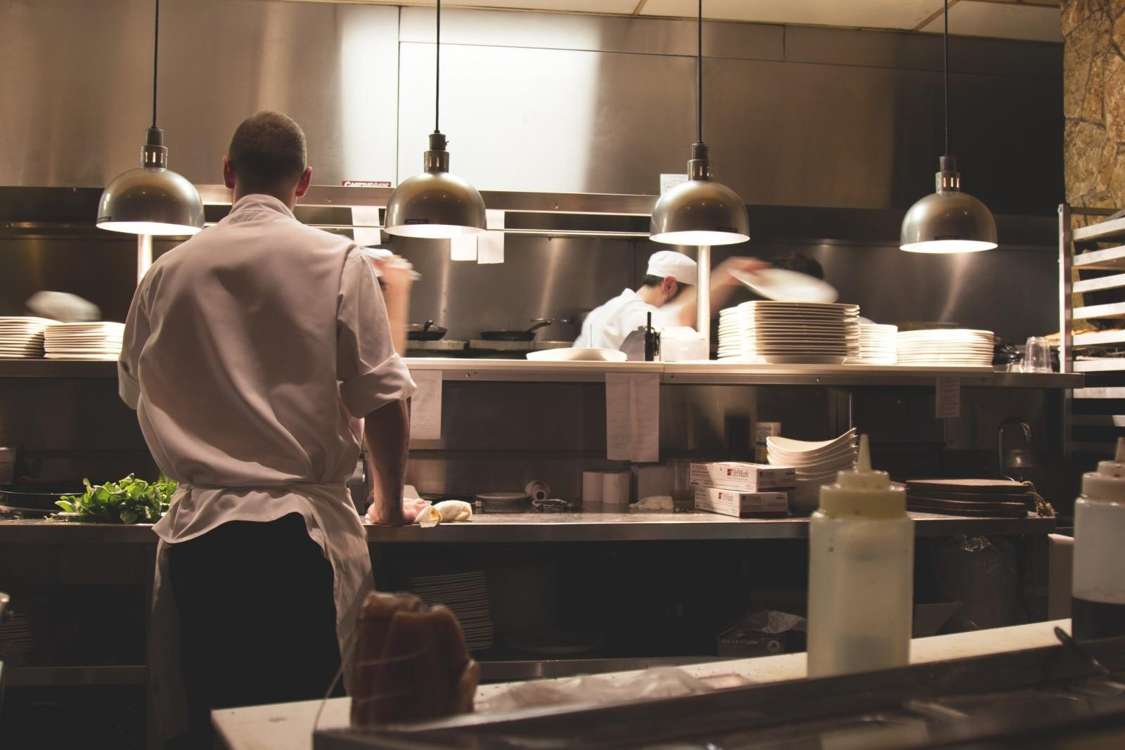 man in restaurants kitchen