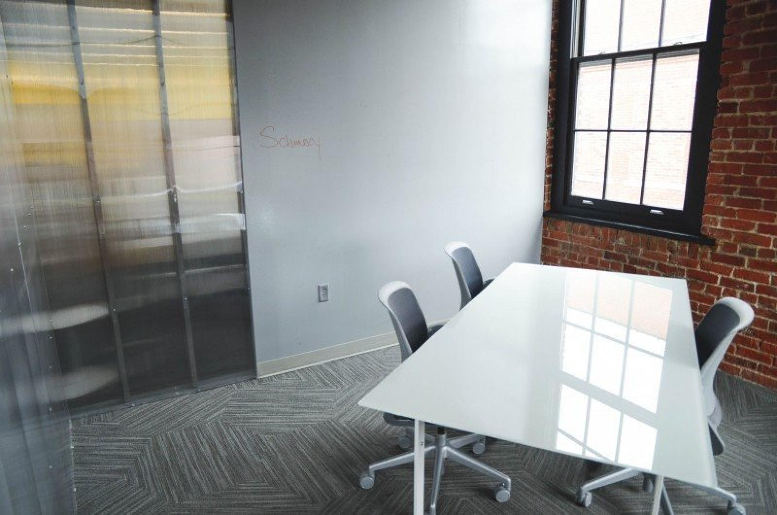 office startup table chairs room education